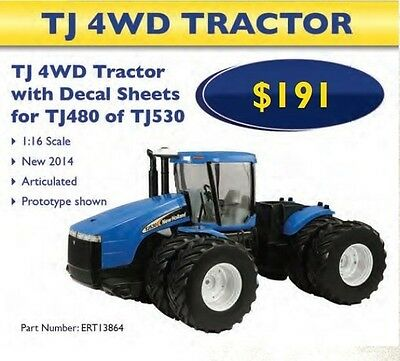 NEW HOLLAND TJ480 / TJ530 4WD Diecast Replica Tractor 1:16 Scale Part# ERT13864
