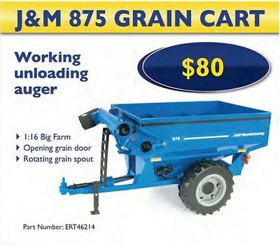 Toy New Holland 1:16 BIG FARM J&M 875 Grain Cart  Part# ERT46214