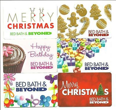 Lot (6) Bed Bath & Beyond Gift Cards No $ Value Collectible