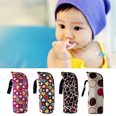 Baby Thermal Feeding Bottle Warmers Cover Carriage Mummy Tote Bag Hang Stroller