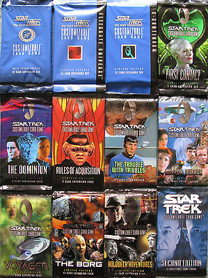 Star Trek CCG Customizable Card Game Sealed Booster Boxes