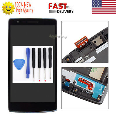 Black For Oneplus One 1+ A0001 LCD Touch Digitizer Screen Display Assembly+Frame
