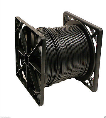 500FT RG59 Siamese 20AWG + 2C/18AWG Coaxial Cable CCTV Black Color