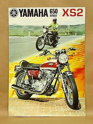 Vintage 1972 Yamaha 650 XS2 Street Motorcycle Brochure Specifications Features