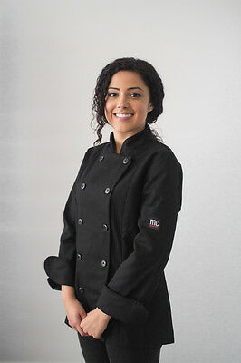 MEE-CHef Woman's CELINE Chef Jacket Black Size Small Made In Canada