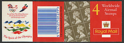 GN3 / DB18(21) Olympics Logos Walsall 4 x 41p Barcode Booklet