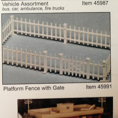 "Bachmann 45991,""O"",Plasticville Platform Fence w/Gate, New Mint In Box"