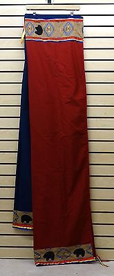 Nice Hand Crafted Red&blue Bear Des. Native American Indian Gourd Dance Blanket