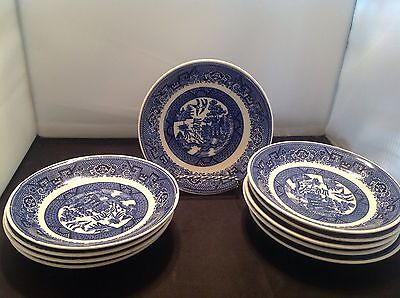 Vintage Homer Laughlin Blue Willow Saucers-Lot Of 10