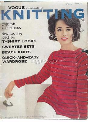 Vogue Knitting Spring Summer 1962 Photographs Instructions Patterns
