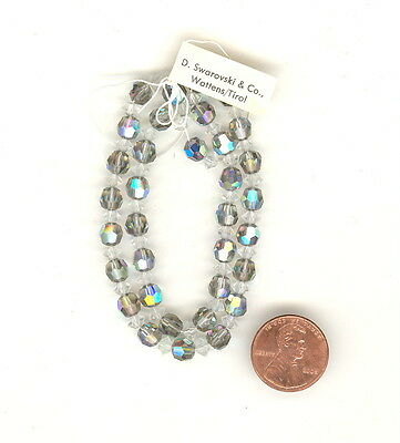 Tagged STRAND Vintage Swarovski Crystal STARLIGHT AB Beads & Crystal Spacers 6mm