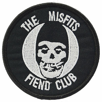 Misfits Fiend Club Iron On Patch Punk Gothic Metal Danzig Sew Crimson Ghost Logo