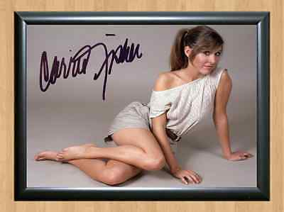 Carrie Fisher Princess Leia Star Wars Signed Autographed A4 Photo Print costume