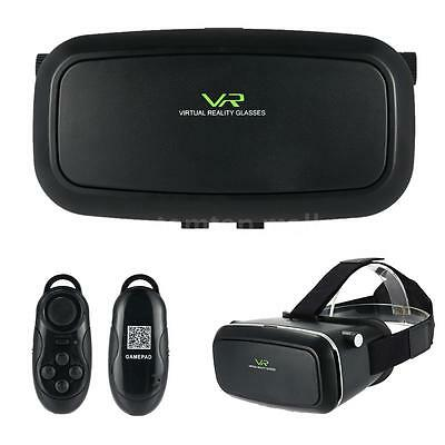 For Google Cardboard VR BOX Virtual Reality 3D Glasses with Bluetooth Controller