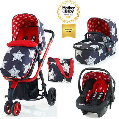 New Cosatto Giggle 2 3 in 1 Pram Travel System with Hold Car Seat - Hipstar