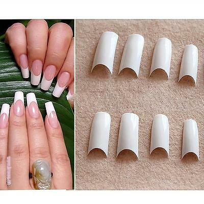 500Pcs Ladys Acrylic French Half Flase Nail Tips 10 Sizes Cosmetic Beauty Tool