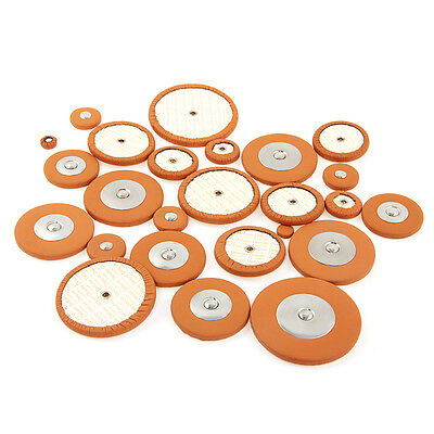 1 Set Professional Tenor Saxophone Pad Woodwind 25 Pcs Sax Leather Pads Brown