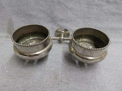 Antique Nickel Brass Double Beaded Cup Holder Old Vintage Brasscrafters 5375-15