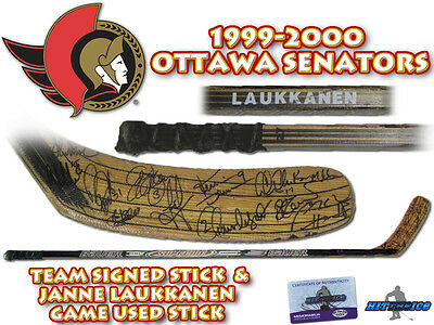 OTTAWA SENATORS Team Signed Game Used Hockey Stick - w/COA HOLOGRAM