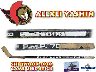 ALEXEI YASHIN Game Used Stick OTTAWA SENATORS - w/COA HOLOGRAM