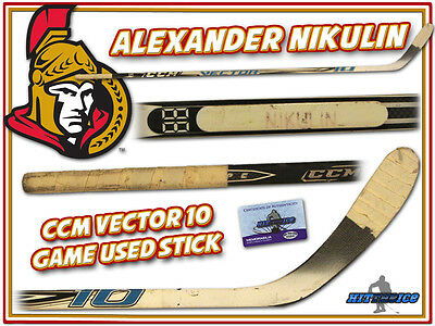 ALEXANDER NIKULIN Game Used Stick OTTAWA SENATORS w/COA