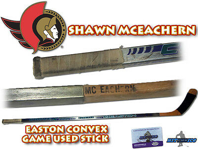 SHAWN MCEACHERN Game Used Stick OTTAWA SENATORS - w/COA EASTON CONVEX