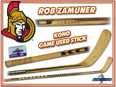 ROB ZAMUNER Game Used Stick OTTAWA SENATORS w/COA
