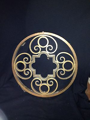 "Early 16 3/8"" Brass Pediment Ornament"