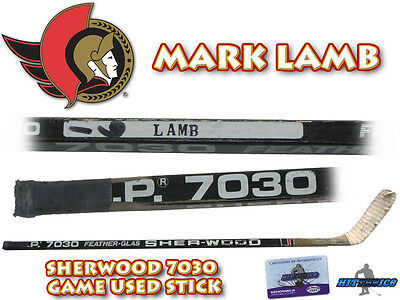 MARK LAMB Game Used Stick OTTAWA SENATORS - w/COA HOLOGRAM