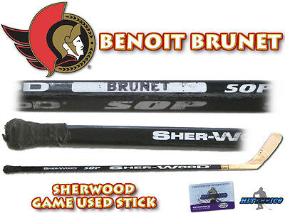 BENOIT BRUNET Game Used Stick OTTAWA SENATORS - w/COA HOLOGRAM