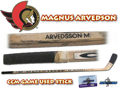 MAGNUS ARVEDSON Game Used Stick OTTAWA SENATORS - w/COA HOLOGRAM