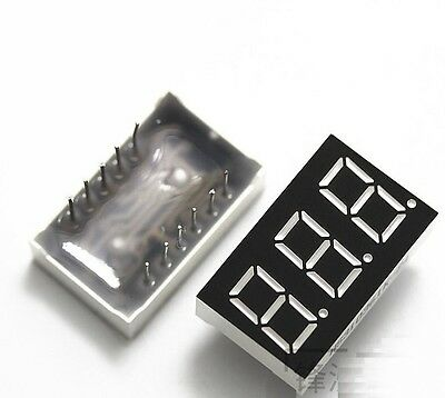 1PCS 0.36 inch 3 digit 7 seg segment Common anode led display Red