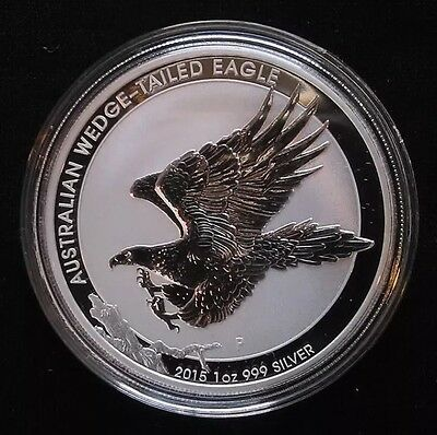 2015 Australian 1oz Silver Wedge Tailed Eagle BU direct from mint roll FreeShip!