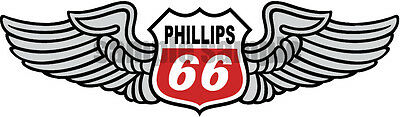 4 Inch Phillips 66 Red Racing Checkered Flag Gasoline Oil Decal Sticker