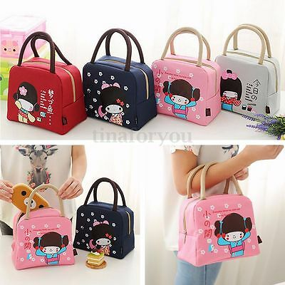 Portable Insulated Lunch Bag Box Cooler Thermal Handbag Food Drink Storage Pouch