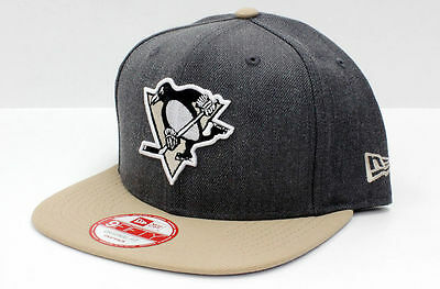 New Era 950 PITTSBURGH PENGUINS Heather Graphite Hat Snapback NHL Cap Gray Snap