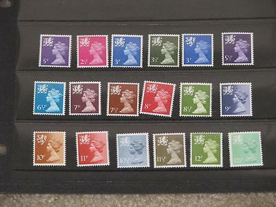 Great Britain Wales & Monmouthshire, 1971-91, most are MNH, a few hinged