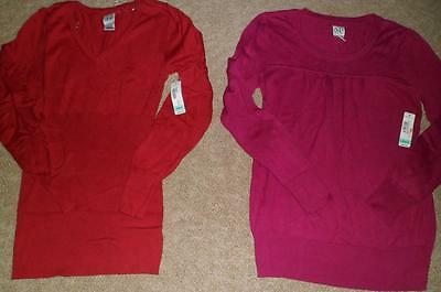 NWT Misses DUO Maternity Sweaters Pink OR Red