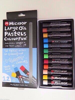 Micador Large Oil Pastels Crayons Colourfun OPM612*^