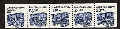 #2464 Lunch Wagon Pl#3 (Dull Gum - Solid Tag) - MNH