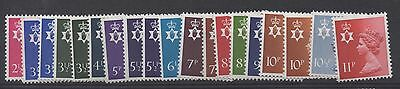N. Ireland. 1971. Set x 19 Regional Machins. Superb unmounted mint. FREEPOST!