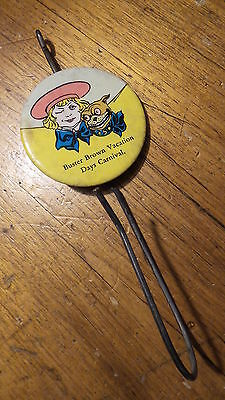 Antique Advertising Celluloid Button BILL HOLDER, BUSTER BROWN Vacation Days