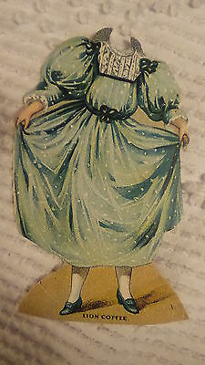 Antique Victorian Trade Card LION COFFEE,#1, The Miller