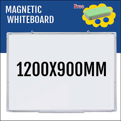 "47""x35"" Single Side Magnetic Writing Whiteboard Office Dry Erase Board New"