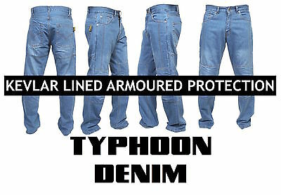 Men's Motorbike Motorcycle Biker Trousers Pants Jeans With Protective Lining