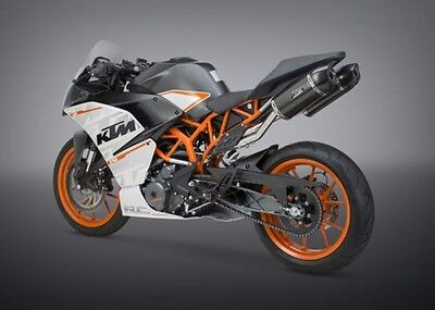2015 KTM RC390 Yoshimura Slip on Exhaust with Dual Carbon Fiber RS9 Mufflers