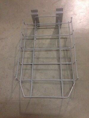 """10 Slat Wall Grey Baskets 14"""" By 8.5"""" Wide By 1.5"""" Tall"""