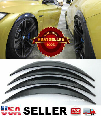 "2 Pairs ABS Black 1"" Arch Extension Diffuser Wide Body Fender Flare For BMW AUDI"