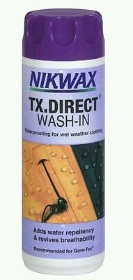 Nikwax TX Direct Wash-In Waterproofing for Outdoor clothing Re-Proofer 300ml