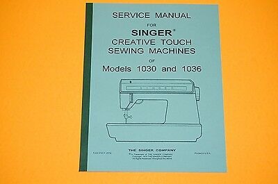 Service Manual on CD: Time Adjust and Repair Singer 1030 & 1036 Sewing Machines